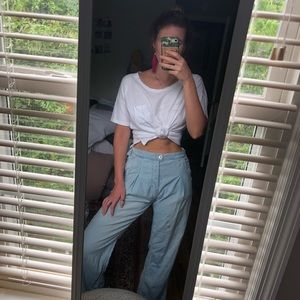 Free people high waisted chambray pants